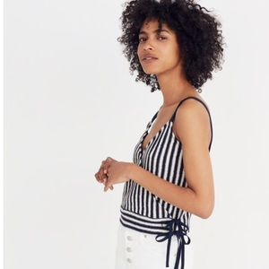 Madewell Finale Crop Striped Tank